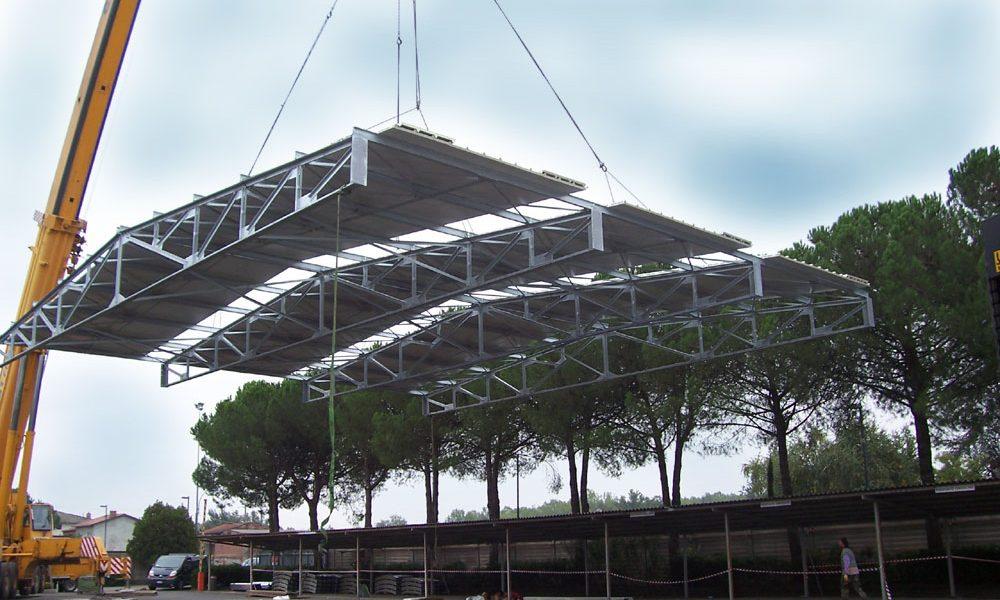 Porcari (LU) – Sopraelevazione porzione capannone, carpenterie metalliche